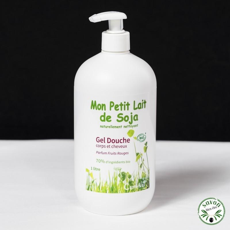 Gel douche Bio - Mon Petit Lait de Soja - Parfum Fruits rouges - 1L