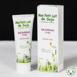 Gel exfoliant visage Bio - Mon Petit Lait de Soja - Parfum Lotus - 75 ml
