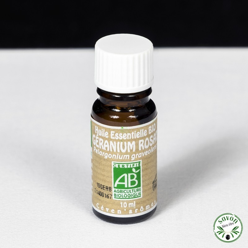 Huile essentielle Bio - Géranium Rosat- 10 ml - Ceven'Arômes