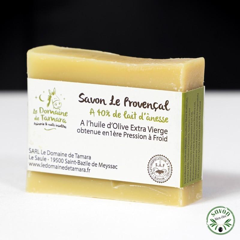Savon 40% lait d'ânesse frais et bio - Le Provençal - 90 gr