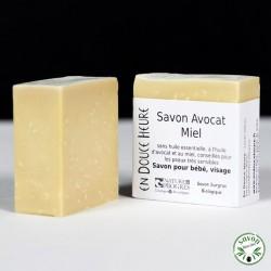 Savon Avocat Miel certifié bio par Nature & Progrès - 100g