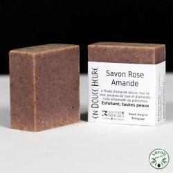 Savon Rose Amande certifié bio Nature & Progrès - 100g