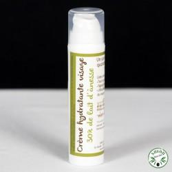 Crème hydratante visage bio 30% de lait d'ânesse - 50 ml