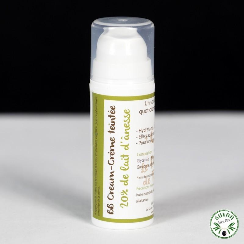 Crème teintée bio - BB Cream 20% de lait d'ânesse - 30 ml