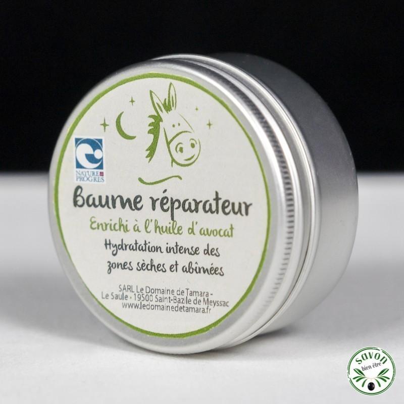 Beaume réparateur bio à l'huile d'avocat et beurre de karité - 50 ml